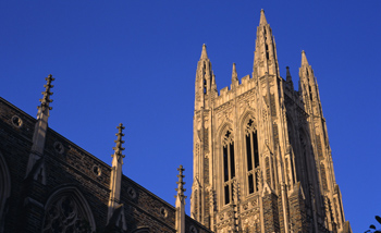 Duke Chapel is the architectural focus of the Duke campus.