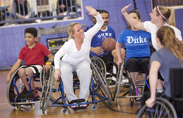 DPT Students participate in wheelchair basketball